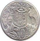 1966 Australian First Round Silver 50c Coin