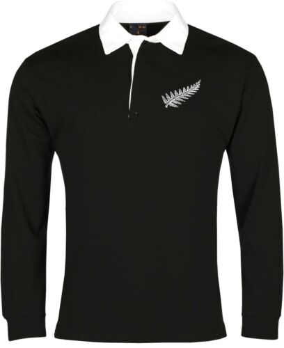 New Zealand National Rugby Long Sleeve Shirt Sizes SXXXL Embroidered Logo