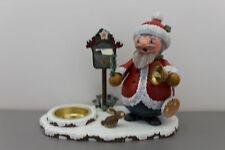36-105h1101 Hubrig Räuchermann Weihnachtsmann mit Teelicht