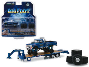 1974-Ford-F250-Bigfoot-Monster-Truck-w-Gooseneck-Trailer-1-64-Greenlight-30054