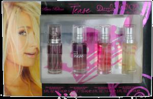 Paris-Hilton-For-Women-4-piece-set-Miniature-EDP-0-5-oz-Perfume-Spr-Damaged-Box