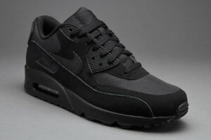 Image is loading NIKE-AIR-MAX-90-ESSENTIAL-FULL-BLACK-Men-