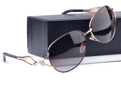2016 New Brand Designer Womens Polarized Sunglasses Retro Fashion Eyewear Shades