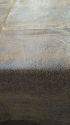 Glove soft grade A Italian Lambskin leather hide NAKED BROWN COGNAC lamb 7 sq.ft