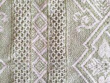 Vintage Cotton Bedspread. Single / Throw. 1930's. Reversible. Moss Green.