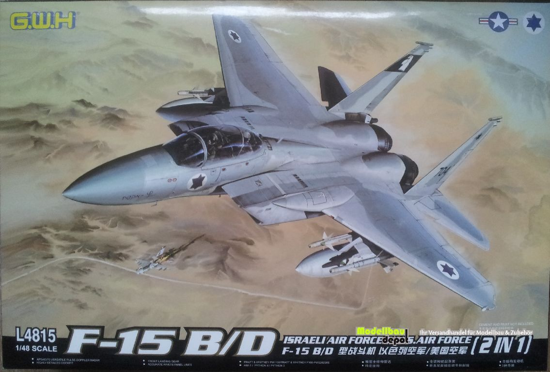 Great Wall Hobby 4815 F-15 B D Israeli Air Force & US Air Force  2 in 1   1 48  | Online Kaufen