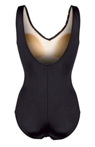 Fantastico costume da bagno Nero-Arancione-Giallo Optimizer 36 o 38 Coppa C Nuovo