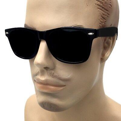 Men 80s Sunglasses Sport PILOT Metal Frame Black Silver Mirror Lens with Dark