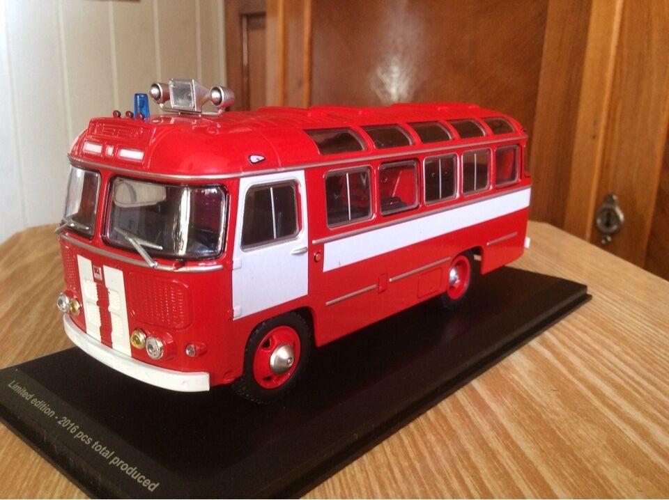 Paz 672 feuerwehr - bus 1 43 udssr auto - modell retro - selten classicbus