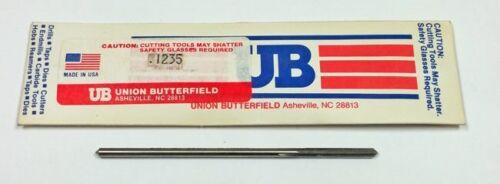 "7//8/"" LOC 3-1//2/"" OAL Union Butterfield .1235 4-Flute HSS Chucking Reamer"