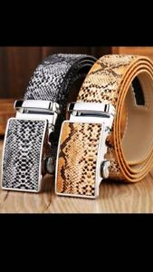 Details about WOMENS DESIGNER LEATHER AUTOMATIC BELT FOR LADIES BELTS SNAKE SKIN EFFECT WOMEN