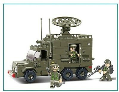 Military 6 wheel Radar Truck c/w Army Figures Compatible Building Bricks 230pcs