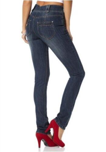 Arizona High Waist Röhre Jeans K-Gr.17-22 NEU Damen Hose Blau Used Stretch Denim