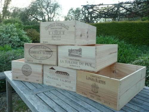 Wooden Wine Box 12 Half Bottle 6 Bottle Wine Crate 12 Bottle Double Magnum