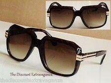 Nu Gazelle Retro 80s Style Sunglasses w Gold Metal & Brown Amber Lens