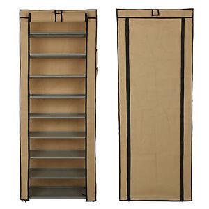 Image Is Loading Dustproof 10 Tier Shoes Cabinet Storage Organiser Shoe