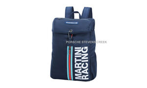 Porsche MARTINI RACING Backpack Rucksack Blue Travel Bag Carry On Luggage