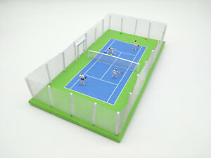 Model-Tennis-Court-Tennis-Players-and-Court-OO-HO-00-Railway-Scenery-NEW