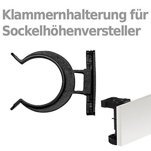 Sockelhöhenversteller 4 Stück 170mm zum Anschrauben mit Sockelbefestig Möbelfuß