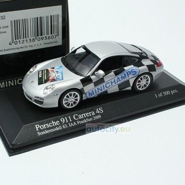 Minichamps iaa frankfurt porsche 911 carrera 4s (997) sondermodell 63 403066432