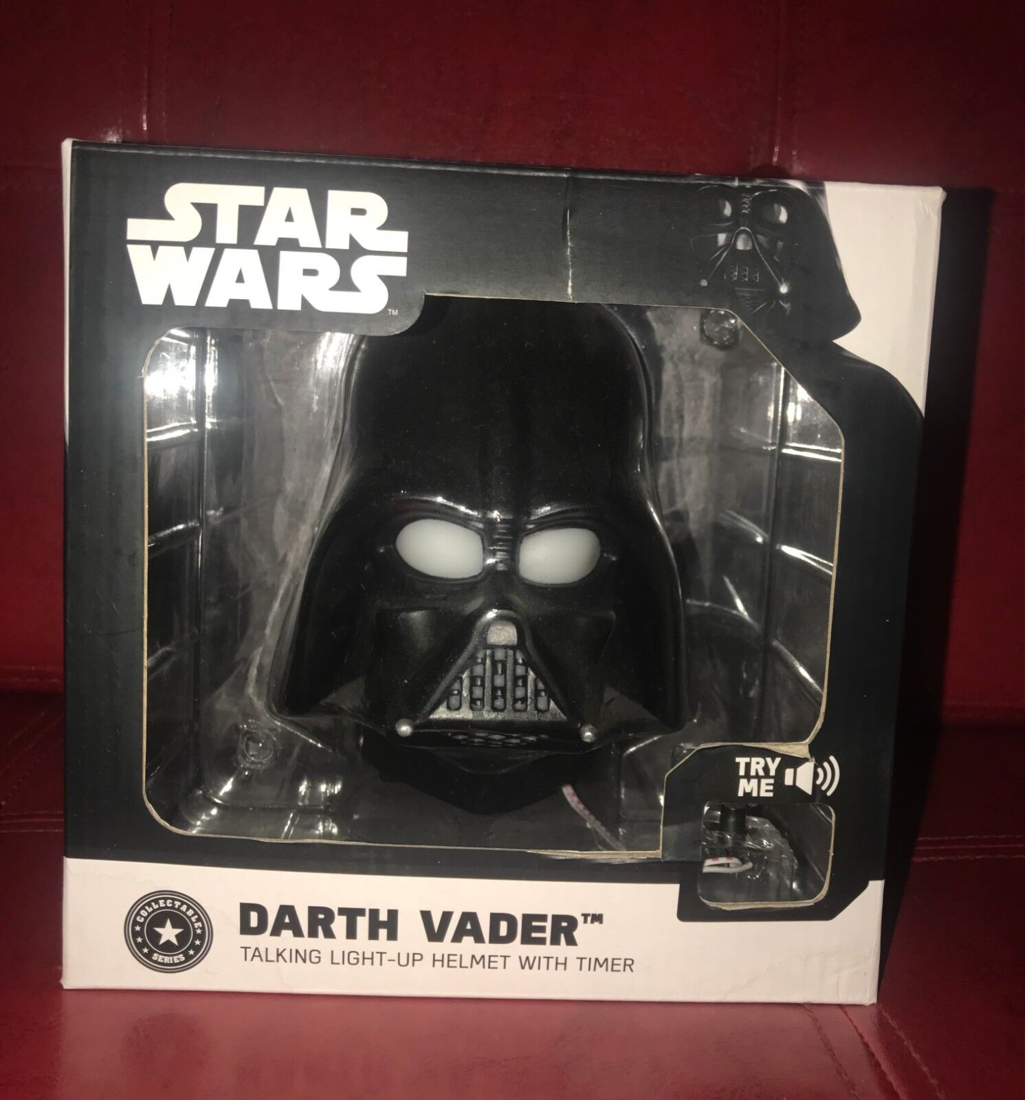 Star Wars Darth Vader Talking Light-up Helmet With Timer Collectible Series