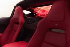 WindRestrictor brand Wind Deflector for C7 Corvette Coupe 2014+ Illuminated Red