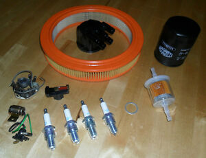 Fiat-X1-9-Ultimate-Service-Kit-Oil-Air-amp-Fuel-Filters-Plugs-Cap-Rotor-Points