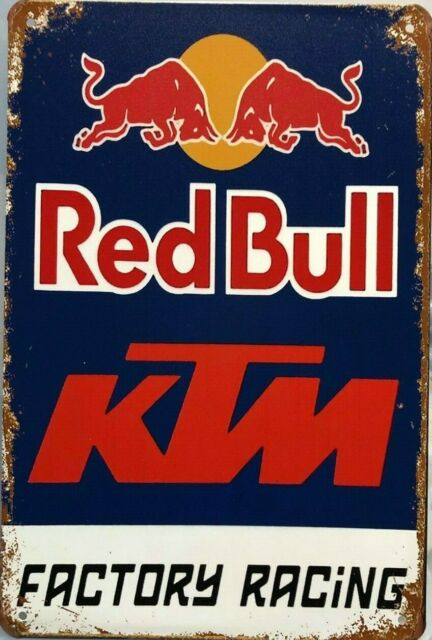 RED BULL KTM Garage Rustic Look Vintage Tin Signs Man Cave, Shed & Bar SIGN