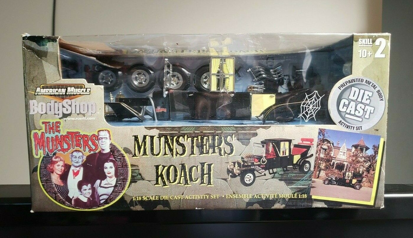 American Muscle Body Shop Munsters Koach 1 18 Scale Die Cast Metal Activity Set
