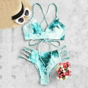 Print Sexy Halter Bikini Set For Women High Waist 2020 Bathing Suit Swimsuit