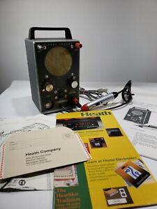 HEATHKIT MODEL IT-12 SIGNAL TRACER TUBE LITES UP,SPEAKER WORKS W/ Probe &Manual