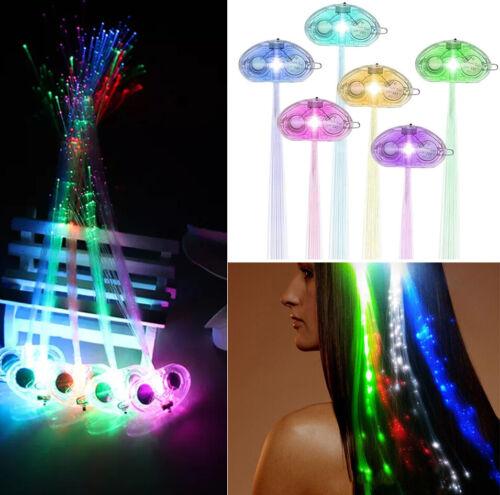 18x Party LED Haarclip Haarspange Haarschmuck Bar Fasching Disco Kostüm Cosplay