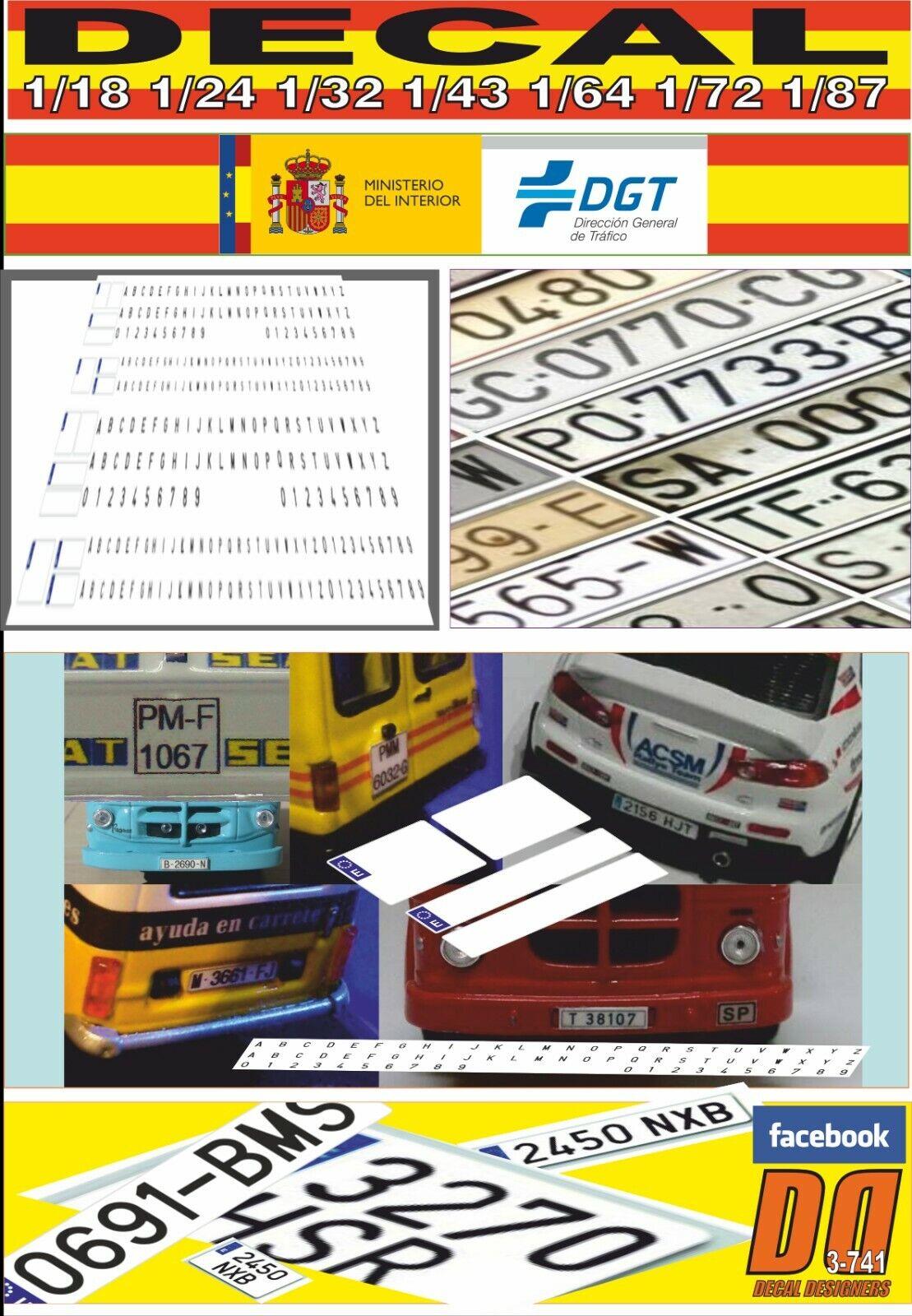 DECAL PLACA PLACA PLACA MATRICULA ESPAÑA (01) 3e6d10