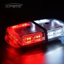 36 LED 12V Oval Light Bar Roof Top Emergency Hazard Flash Strobe WHITE and RED