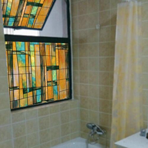 Crampon Statique Fenêtre Films Géométrique Vitrail Verre Opaque Autocollant non