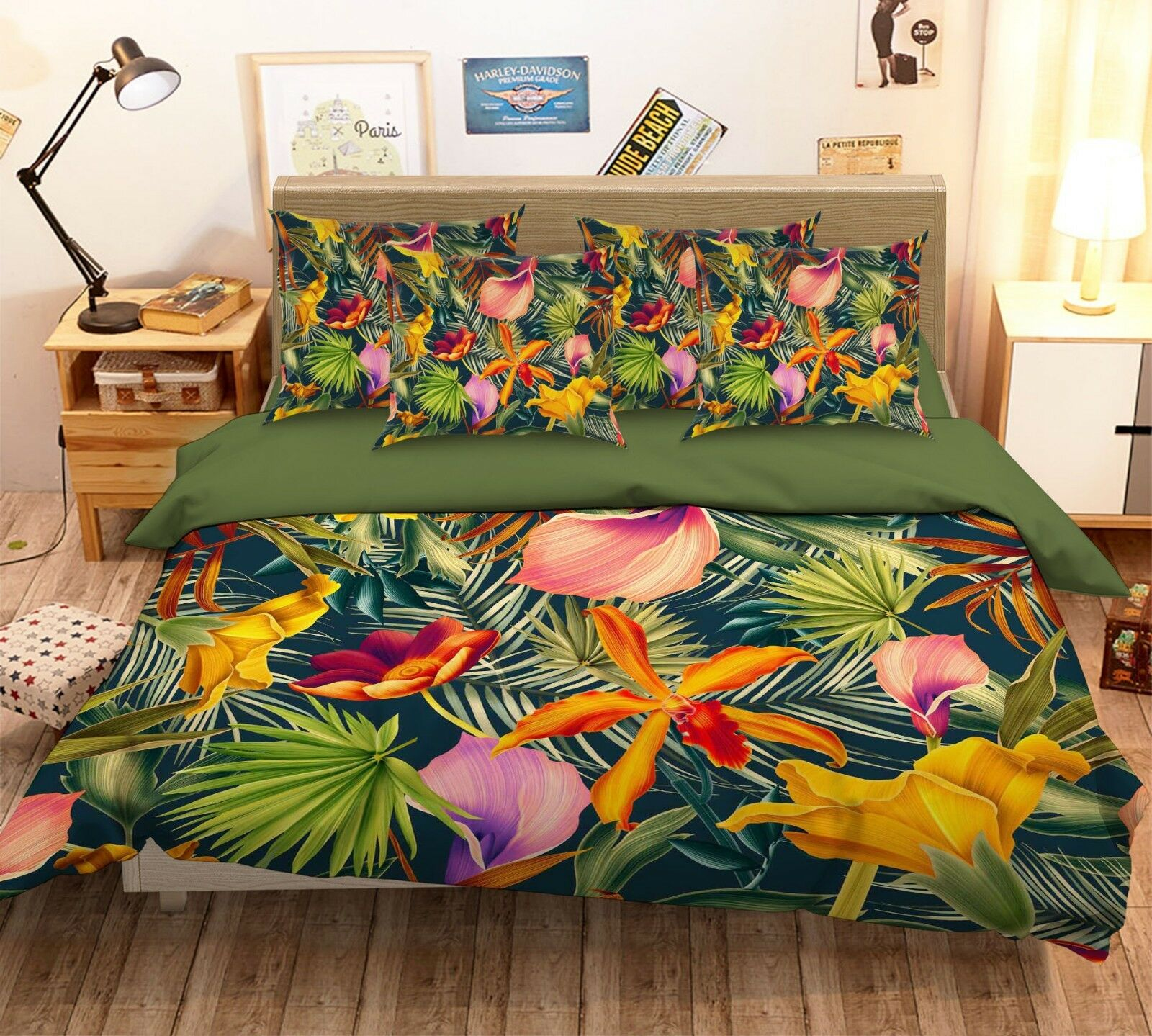 3D Painted Leaves 68 Bed Pillowcases Quilt Duvet Cover Set Single Queen AU Carly