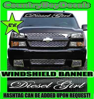 SITTING PRETTY VERTICAL Windshield Vinyl Decal Sticker Truck Boost Turbo Smoke