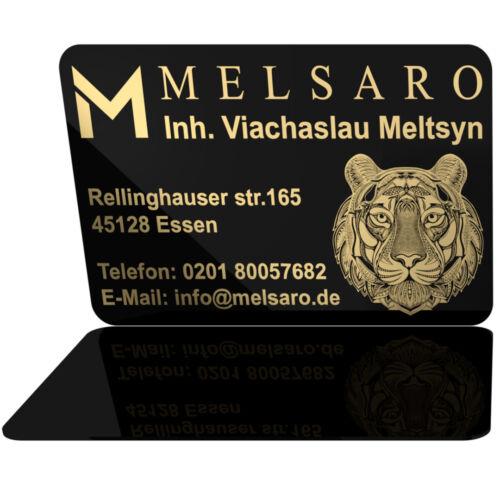 Geschäftskarten Visitenkarten Pvc Beidseitig Gold Farbig