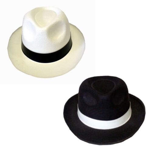 Unisex Adult Gangster Cowboy Hat Mens Womens Fancy Dress Hallowen Accessories