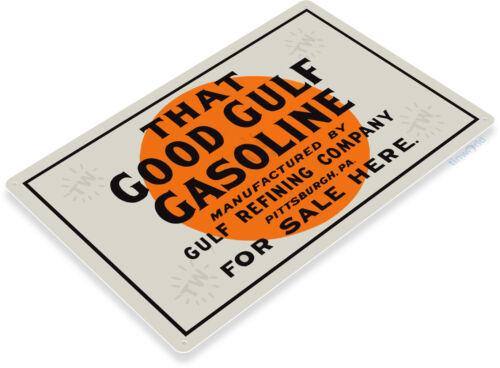 TIN SIGN Gulf Good Gasoline Oil Gas Metal Parts Service Auto Shop Garage A418