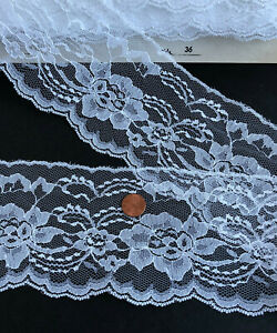 Vintage-4-034-Wide-Lace-Trim-Sewing-Crafts-White-Lot-27-Choose-Length