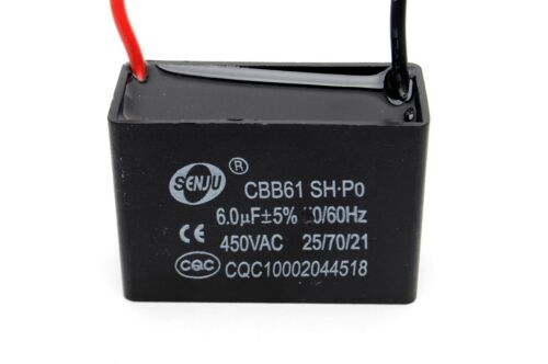 CBB61 2.5 uF to 20 MFD 250VAC OR 450V AC Fan Motor Capacitor Free Shipping in US