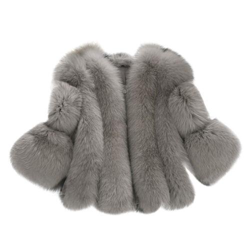 Winter Women Faux Fur Waistcoat Warm Gilet Outwear Slim Vest Jacket Coat