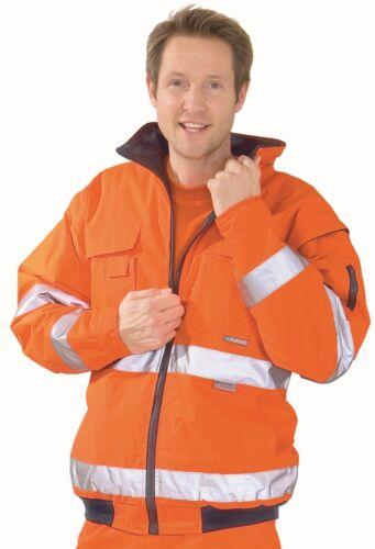 2043 Planam Warnschutz Pilotenjacke orange Arbeitsjacke Winterwarnschutz Jacke