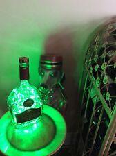 ~ NEW ~ *Bling Lights* SALIGNAP VSOP Cognac Empty LIQUOR BOTTLE Lamp Green LEDs