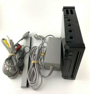 Nintendo RVL-001 Wii Black Video Game Console System Bundle Gamecube Compatible