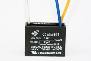 Ceiling Fan Capacitor Cbb61 1uf 2uf 3 Wire 692754127623 Ebay