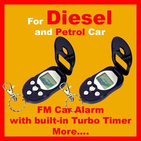 2 way FM Remote Start Car Alarm Turbo Timer Long Distance