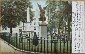 1906-Postcard-Ayer-Soldier-039-s-Monument-Lowell-Mass-MA