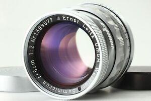 Seltene-YR-1958-Leica-Leitz-Summicron-50mm-5cm-f-2-Rigid-Silber-l39-LTM-aus-Japan